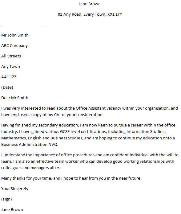 Cover Letter For Business Administration from www.learnist.org