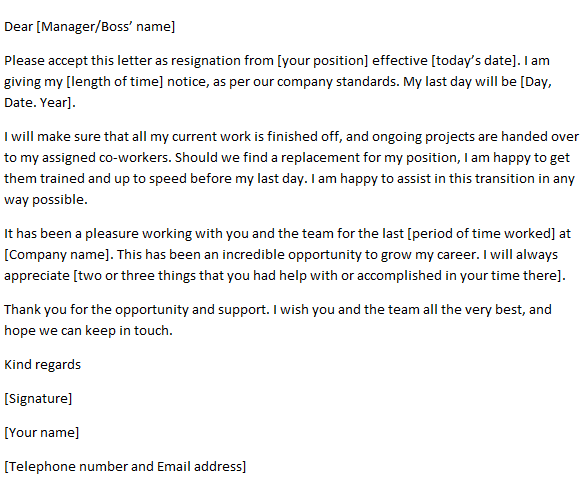Resignation Letter Example - After Maternity Leave
