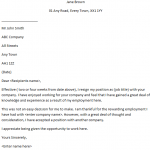 Very Polite Resignation letter example