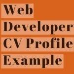 Web Developer CV Profile Example