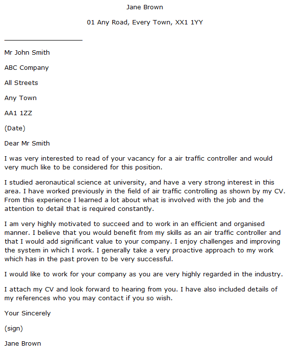 sample air traffic controller cover letter - Suzen.rabionetassociats.com