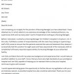 nursing manager cover letter
