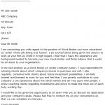 stock broker cover letter example