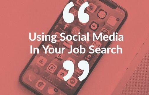using social media for jobs